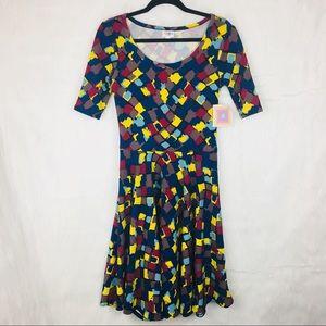 NWT LuLaRoe Bright Nicole Dress